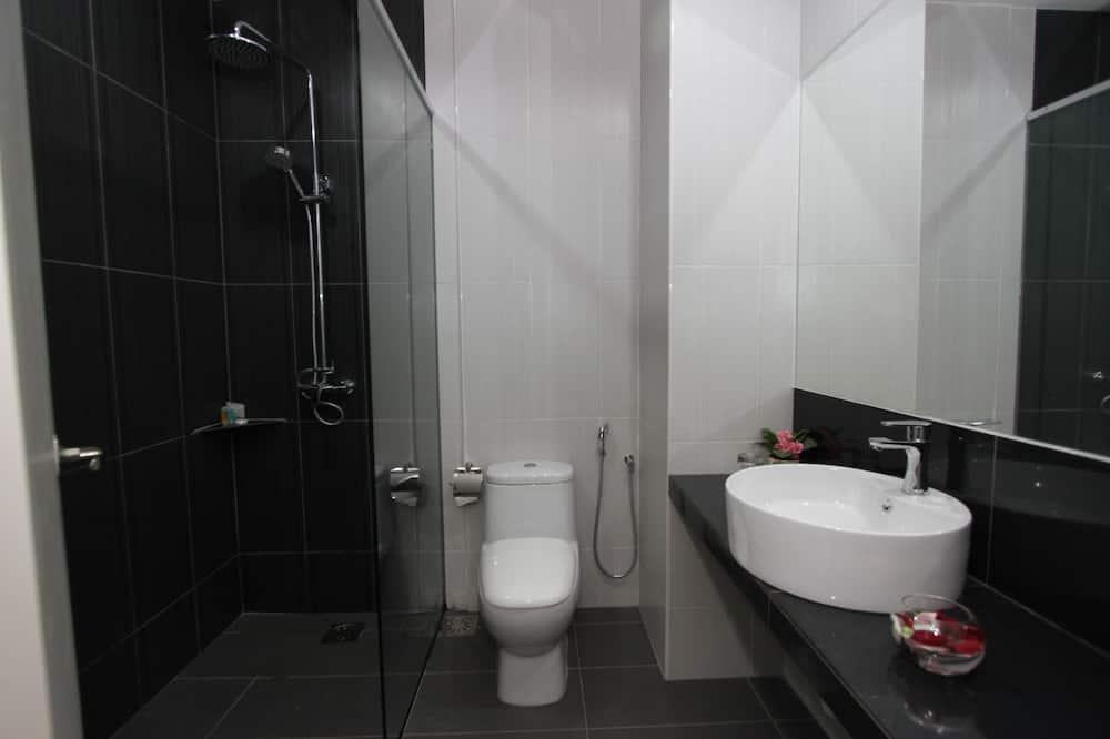 חדר דה-לוקס זוגי, מיטת קינג - חדר רחצה