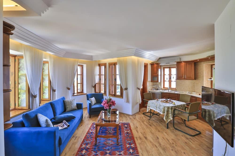 Apartmán typu Deluxe, 2 spálne, masážna vaňa - Obývacie priestory