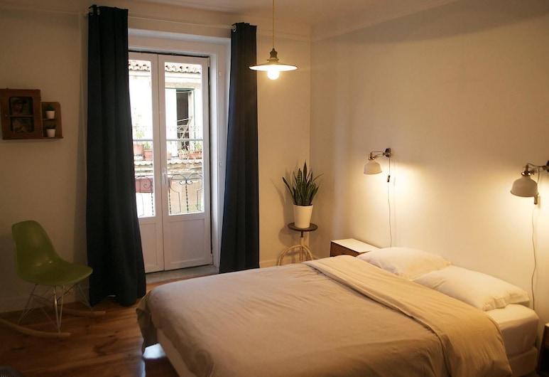Goodnight Hostel, Lizbona, Pokój Deluxe, wspólna łazienka, Pokój