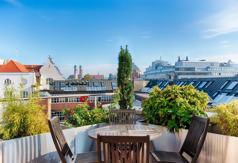 AdvaStay by KING's, Múnich, Terraza o patio