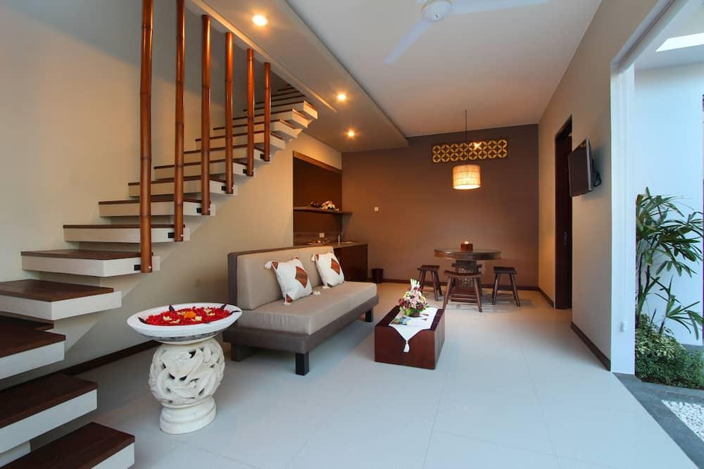 Villa estándar, 2 habitaciones, piscina privada, vista a la piscina - Sala de estar