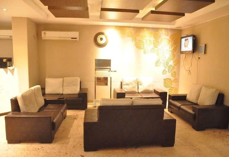 Hotel Deviram Palace, Agra, Sitteområde i lobbyen