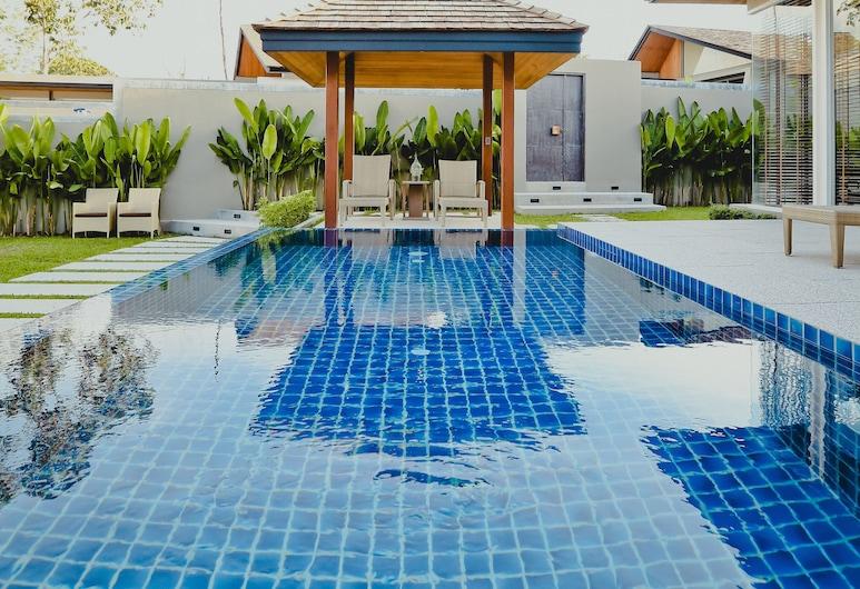 빌라 선파오, Choeng Thale, 이그제큐티브 빌라, 침실 4개, 전용 수영장, 수영장 전망, 전용 수영장