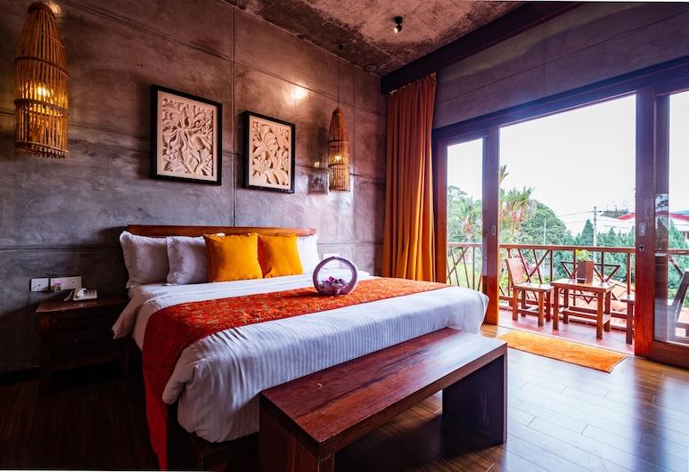 怡保峇里酒店, 怡保, 高級雙人房, 1 張特大雙人床, 浴缸, 城市景, 客房