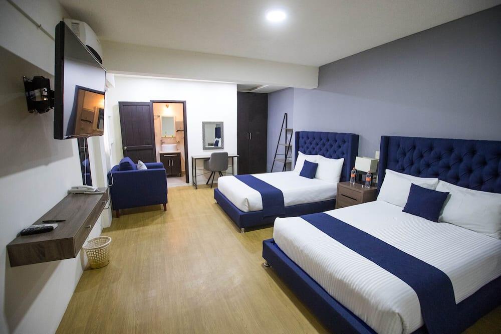 Двухместный номер с 1 двуспальной кроватью, 2 двуспальные кровати - Номер