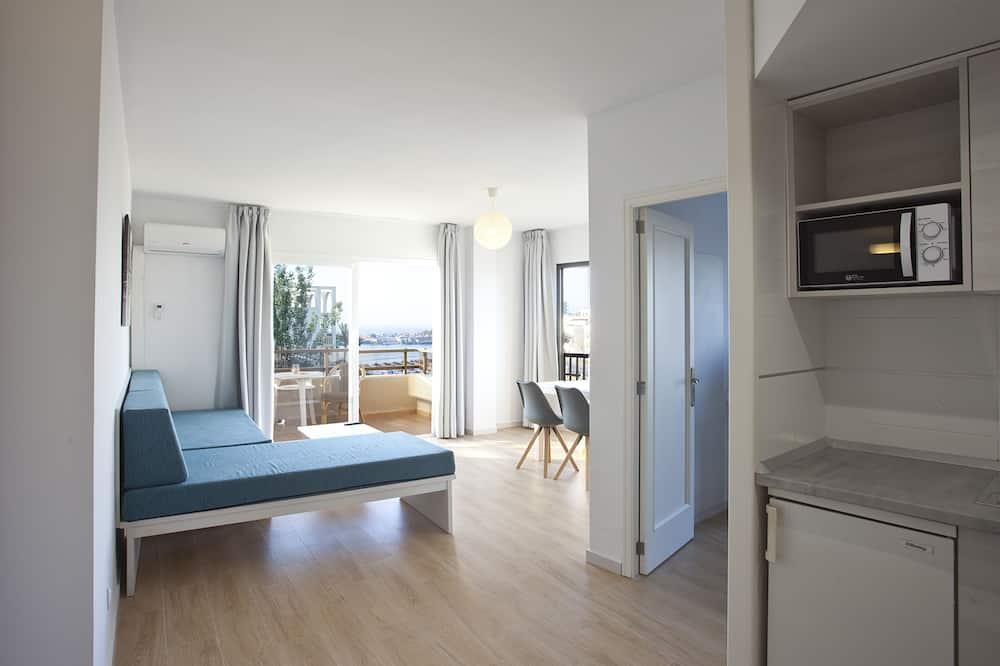 Comfort Apartment, 1 Bedroom, Balcony - Living Room