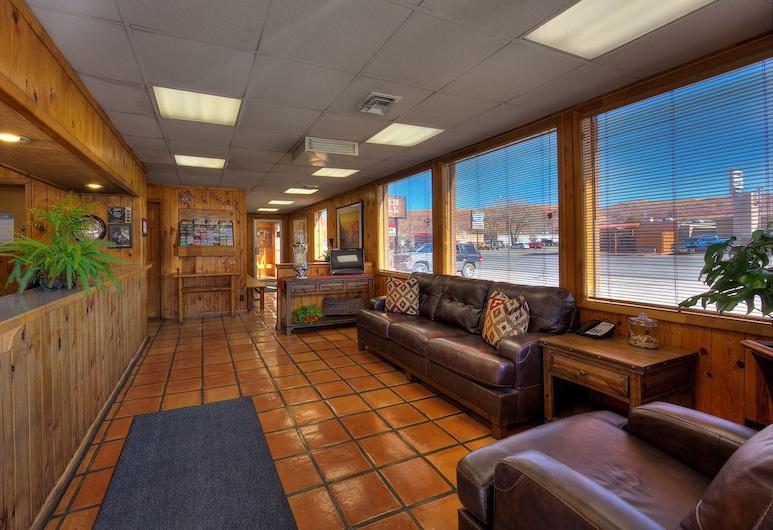 Big Horn Lodge, Moab, Priestory na sedenie v hale