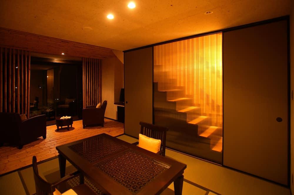Premium Suite with Open Air Bath - Living Area