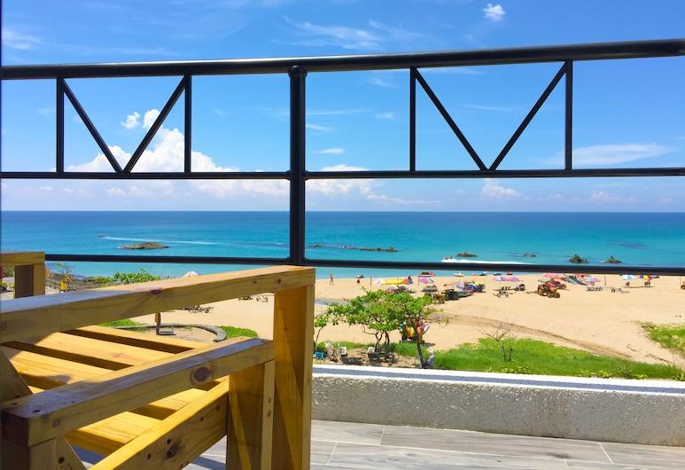 Minimi Inn - SailRock Beach House, Hengchun, Deluxe-Doppelzimmer, Balkon, Meerblick, Balkon