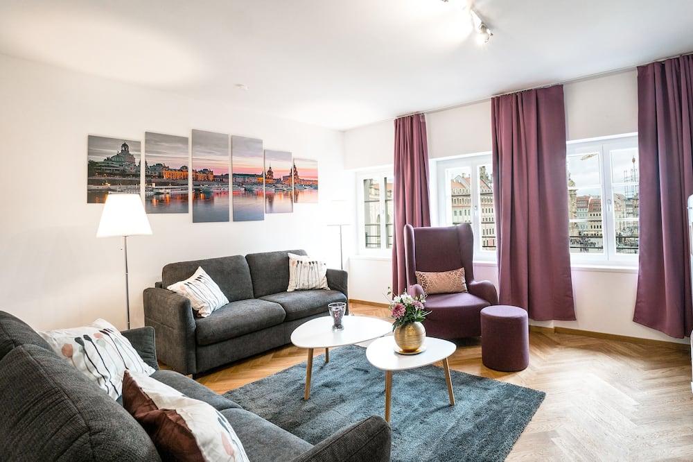 Apartamento estándar, 2 habitaciones, balcón - Zona de estar