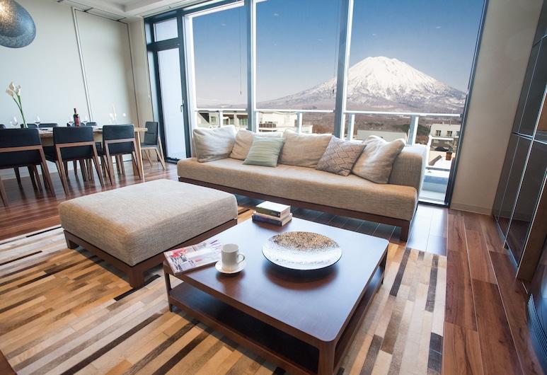 比羅夫 188 公寓, Kutchan, 頂樓客房, 3 間臥室, 客廳