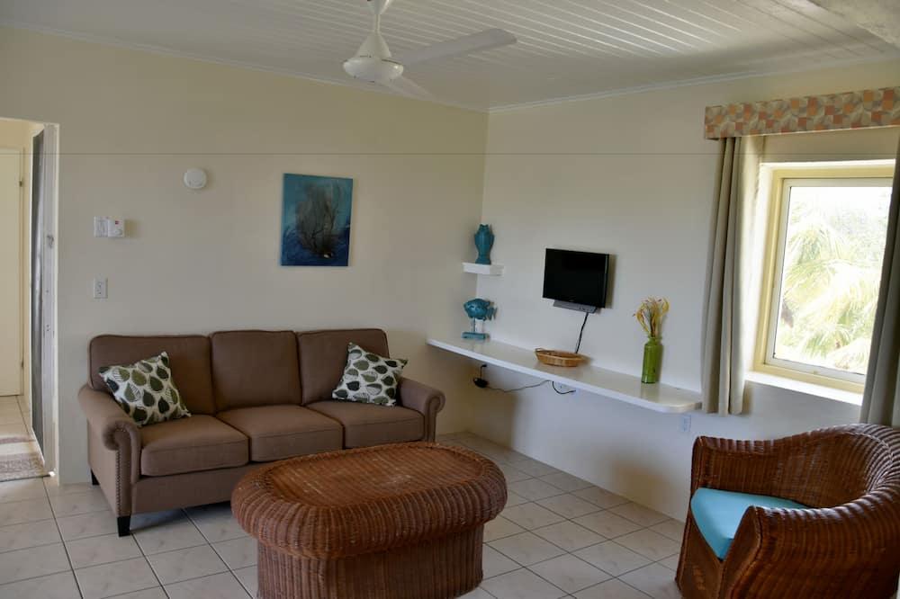 Suite, 1 habitación, balcón, vistas al mar - Sala de estar