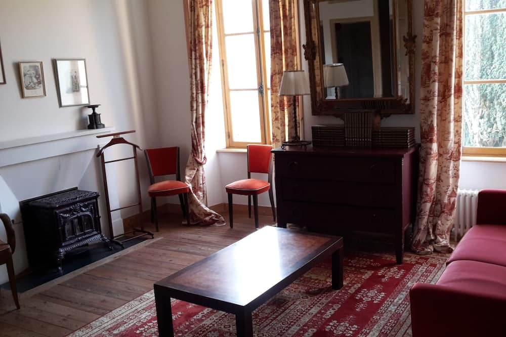 Familien-Vierbettzimmer, 1 Schlafzimmer, eigenes Bad - Wohnbereich