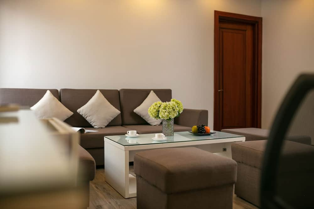 Business Penthouse, 2 Bedrooms, City View (Free High Tea) - Living Area