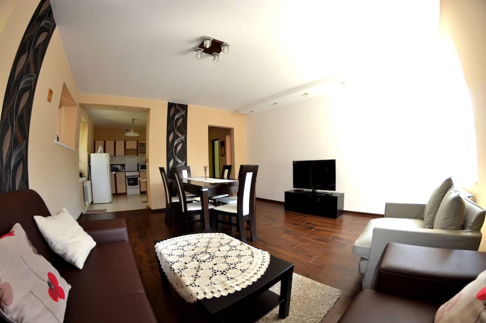 Comfort-Apartment, 2Schlafzimmer, Balkon, Bergblick - Wohnzimmer