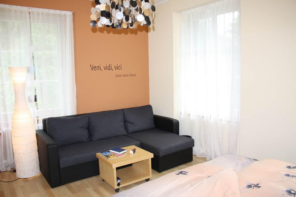 Chambre Double, 1 très grand lit et 1 canapé-lit - Coin séjour