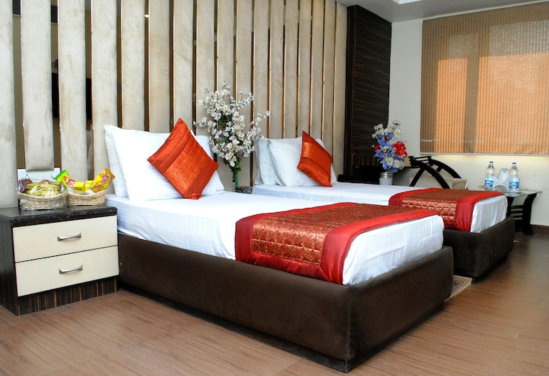 The Gold Inn Paharganj, New Delhi, Deluxe kamer, 1 kingsize bed, Kamer