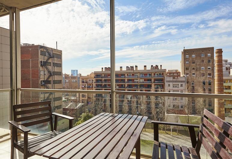 The Lonely Chimney Apartments, ברצלונה, דירה, 2 חדרי שינה, מרפסת, נוף לעיר, מרפסת