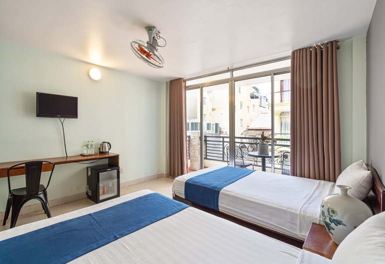 Hanh Chuong Hotel, Πόλη του Χο Τσι Μινχ, Signature Δίκλινο Δωμάτιο (Double ή Twin), Μπαλκόνι, Δωμάτιο επισκεπτών