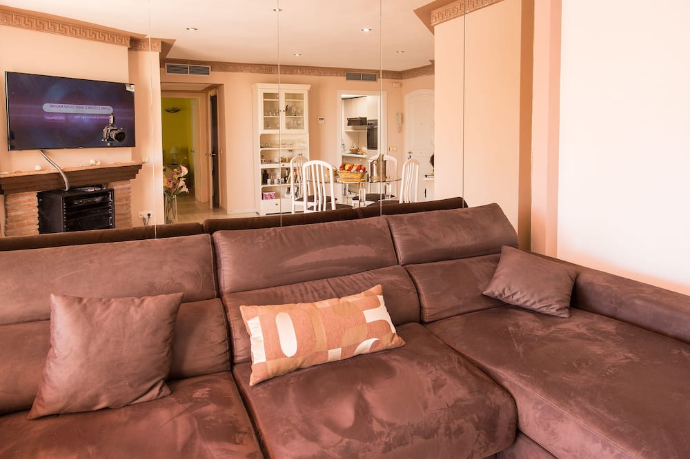 Penthouse, 2 habitaciones, terraza, vista al mar - Sala de estar