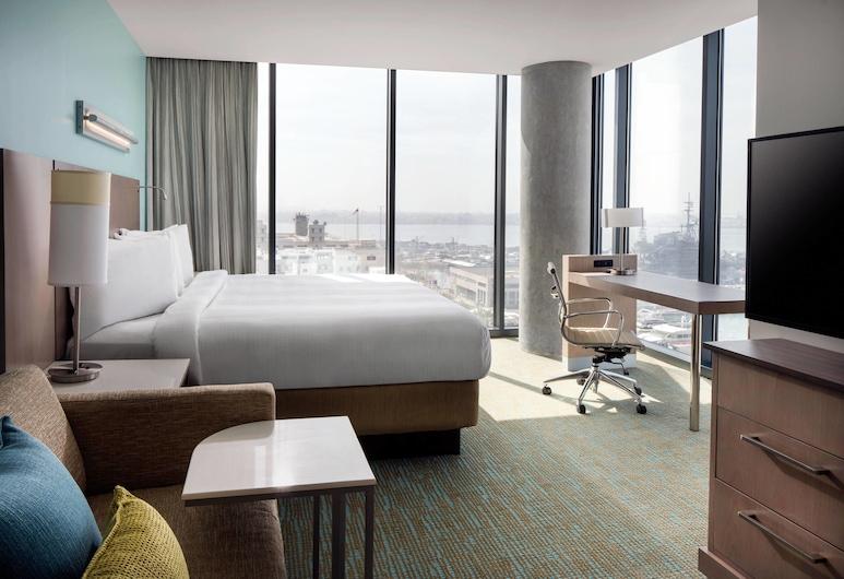 Springhill Suites San Diego Downtown/Bayfront, San Diego, Studio suite, 1 kingsize bed met slaapbank, Uitzicht op de baai, Hoek, Kamer