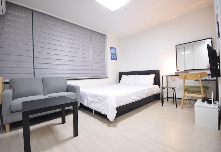 인더시티 비즈니스 호텔, 서울특별시, Standard Double Residence Room (with Kitchen and Washing Machine), 객실