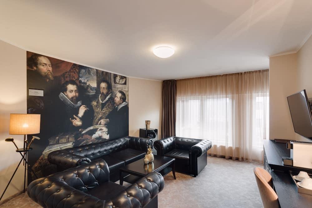 尊榮套房, 1 張特大雙人床 - 客廳