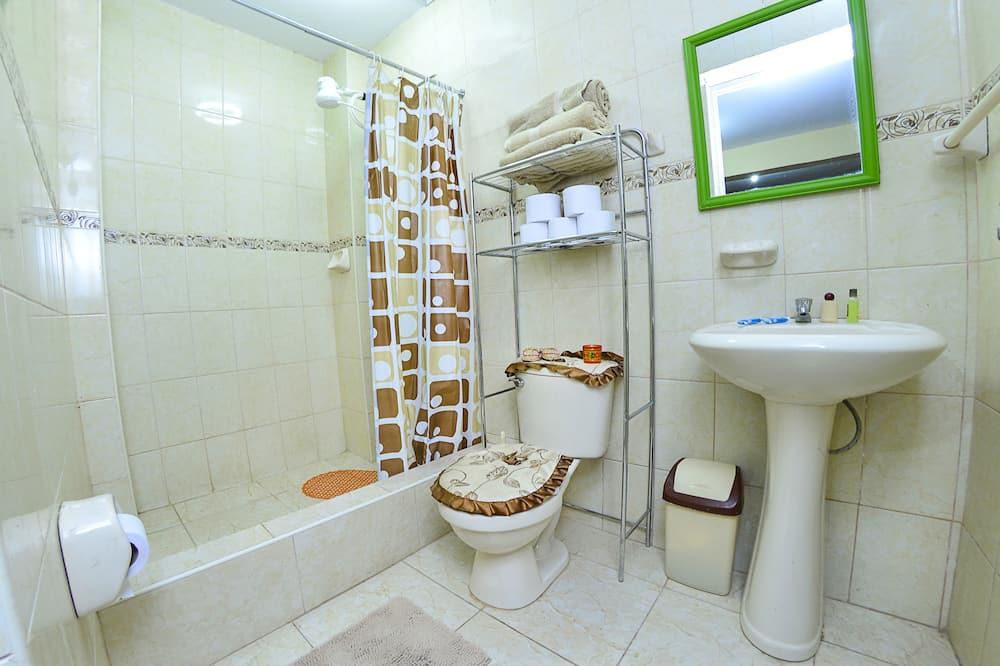 Dvivietis kambarys su patogumais, 1 miegamasis, vaizdas į miestą - Vonios kambarys