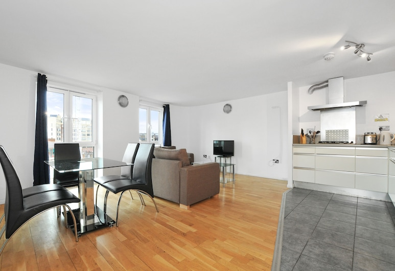 アクセス シティ, ロンドン, アパートメント 2 ベッドルーム, リビング エリア