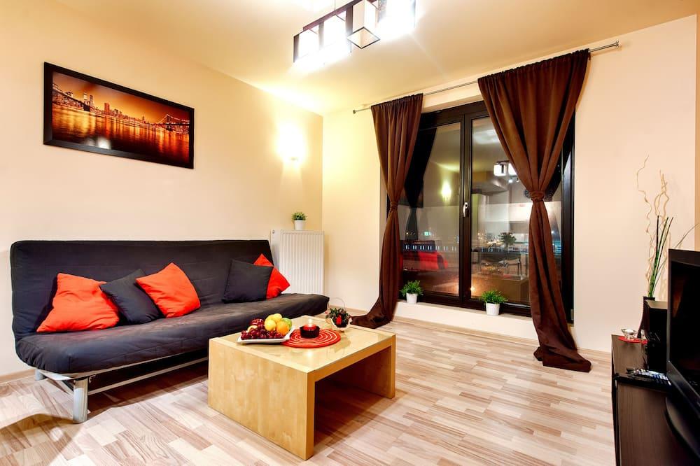شقة ديلوكس - غرفة نوم واحدة - غرفة معيشة