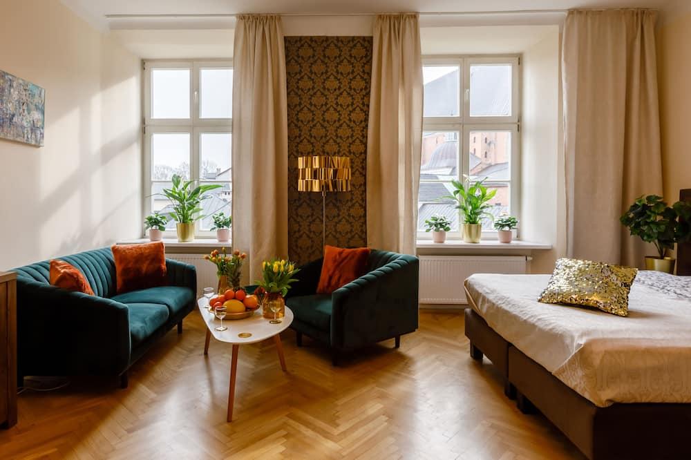 Apartament typu Premium Suite, 1 sypialnia, prywatna łazienka, widok na miasto - Powierzchnia mieszkalna