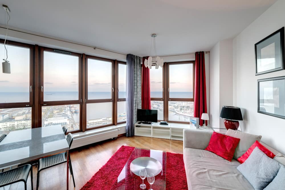 Apartament, 1 sypialnia, widok na morze (4 adults) - Salon