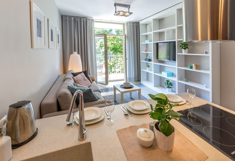 FriendHouse Apartments, Krakow, Apartment, 1 Bedroom, Balcony (Lobzowska 22 Street), Living Room