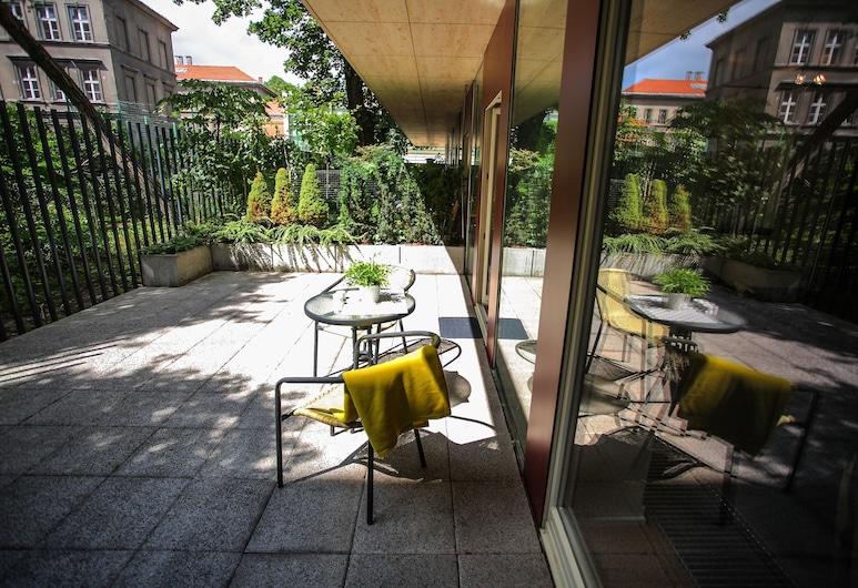FriendHouse Apartments, Krakow, Studio – deluxe (1), Terrasse/veranda