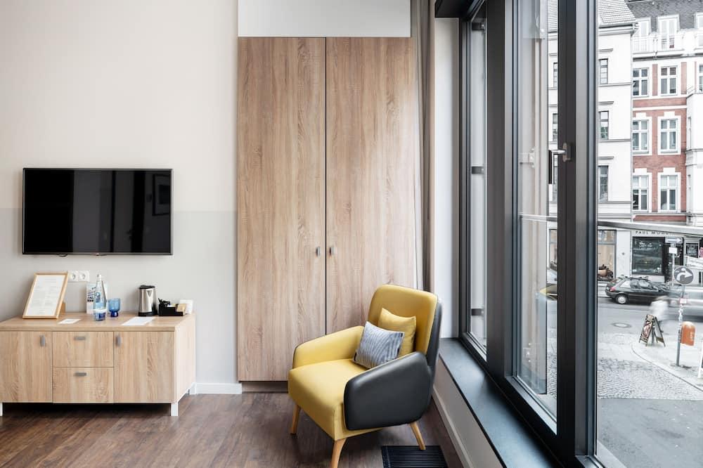 Habitación doble superior, 1 cama de matrimonio, baño privado - Zona de estar