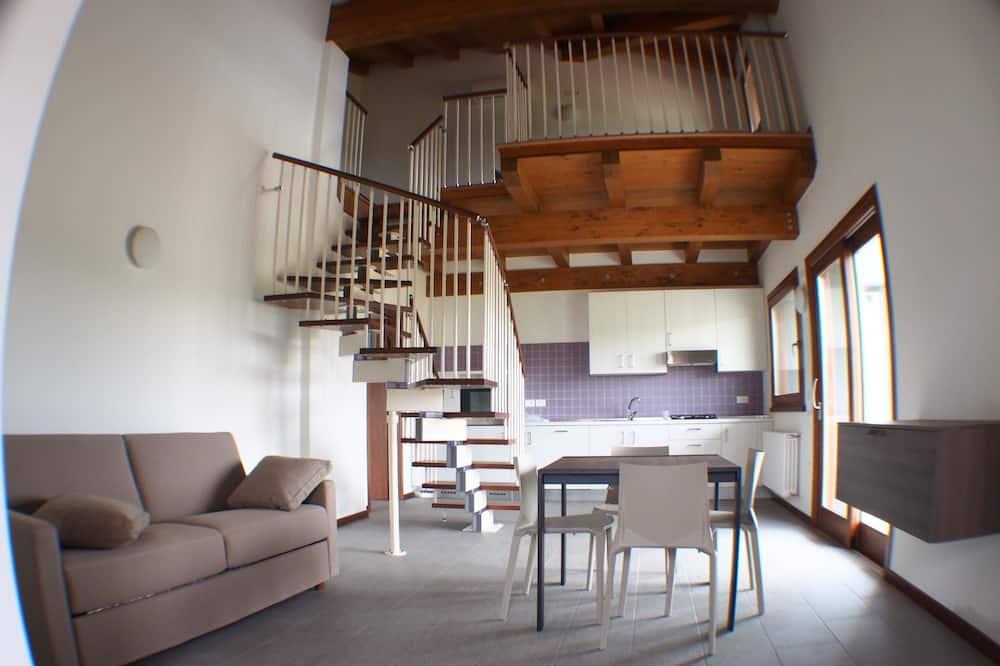 Apartamento, 1 Quarto (Split Level) - Área de Estar