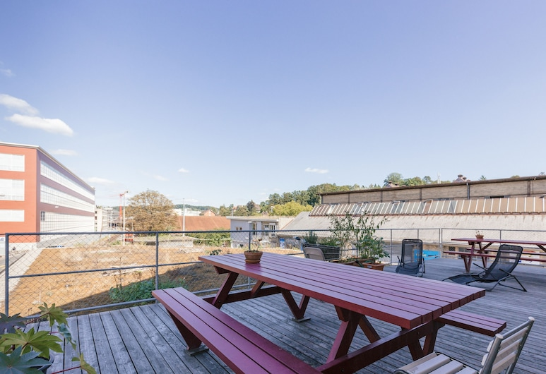 Depot 195 - Hostel Winterthur, Winterthur, Terrasse/veranda