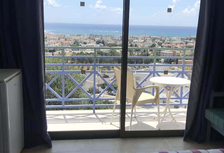 Axiothea Hotel, Paphos, Double or Twin Room, Balcony, Sea View, Guest Room View