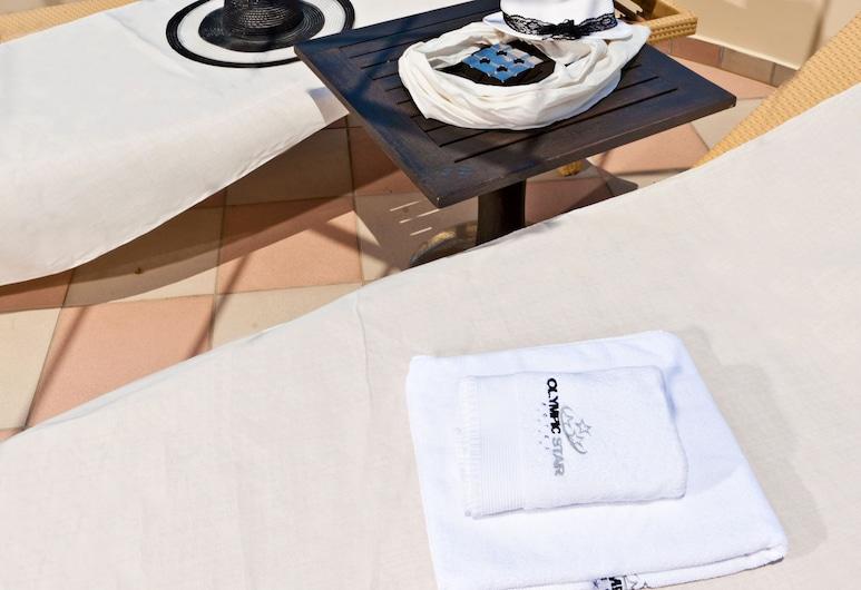 Olympic Star Beach Hotel, Dio-Olympos, Žemesnės liukso klasės numeris, Terasa / vidinis kiemas