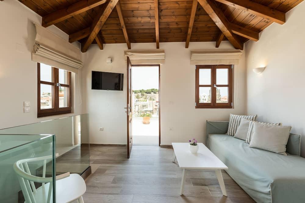 Ateliérový apartmán (Suite with Caste View) - Obývacie priestory