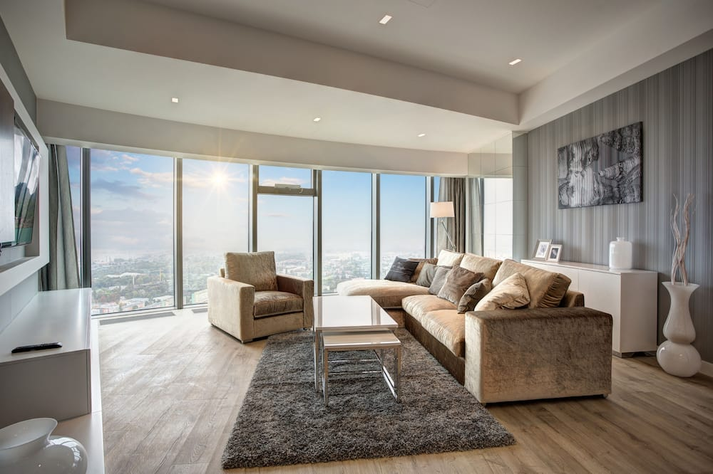 Apartment Penthouse ( 3 rooms, City View) - Living Area