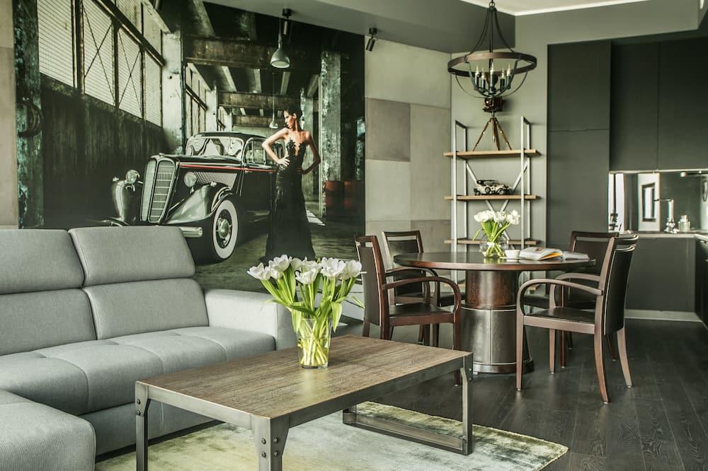 Apartment Superior (2 rooms, City View) - Nappali rész