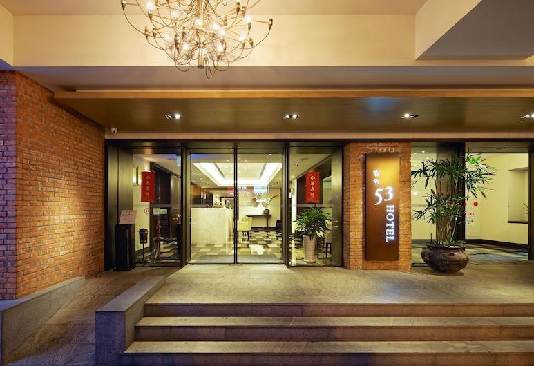 53 Hotel, Taichung, Vchod do hotelu