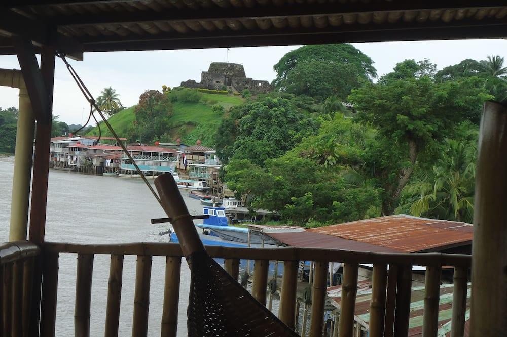 Suite panorámica, 2 camas de matrimonio, vistas al río, sobre el agua - Balcón