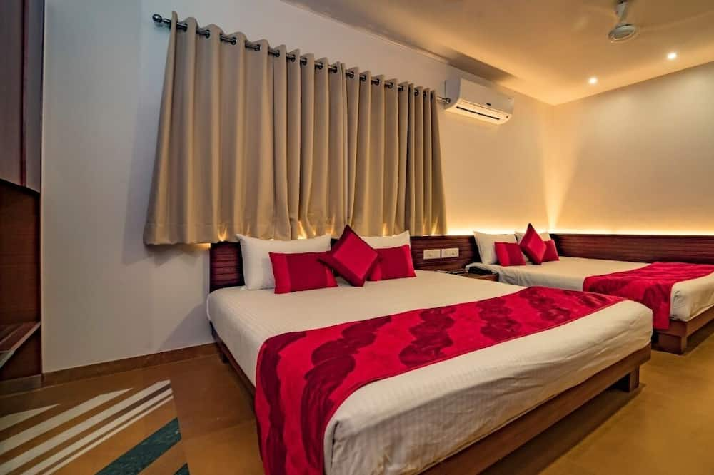Familieværelse - 2 dobbeltsenge - Stue
