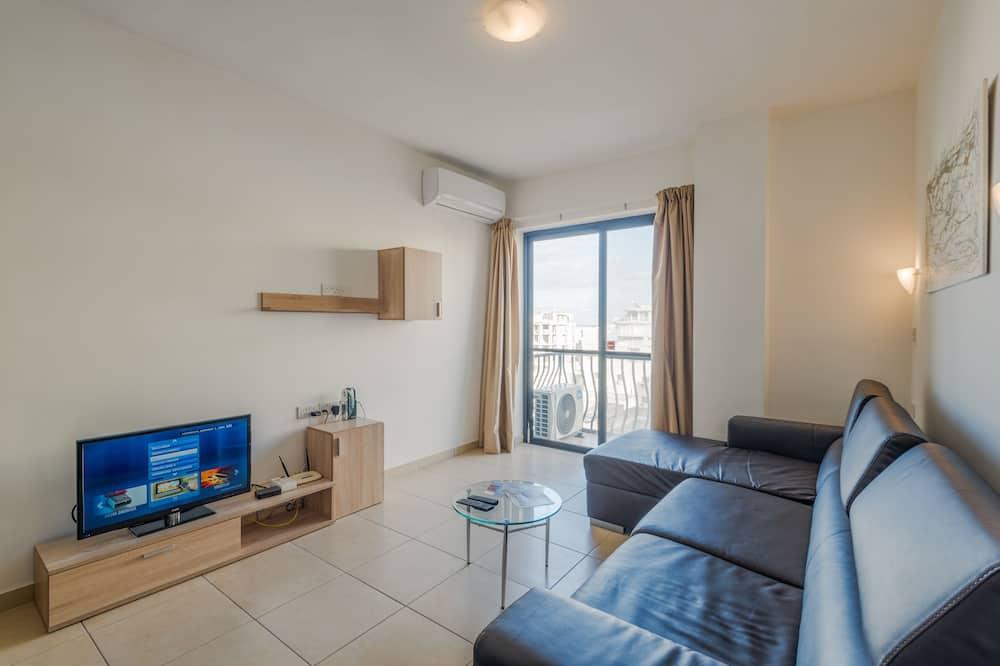Apartamento, 1 Quarto, Terraço, Vista Parcial para o Mar - Sala de Estar
