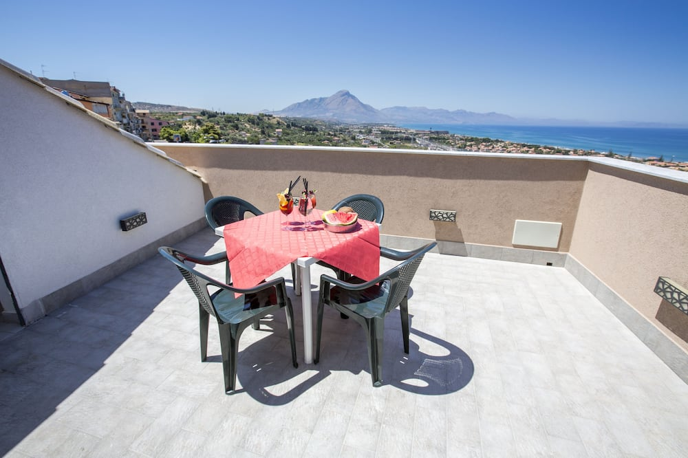 Penthouse panorámico, terraza, vista al mar - Balcón