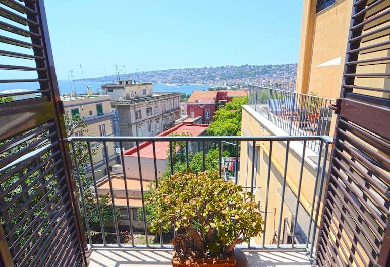 B&B Sunrise, Naples, Suite Deluks, 1 kamar tidur, dapur kecil, pemandangan laut (Pizzofalcone), Balkon