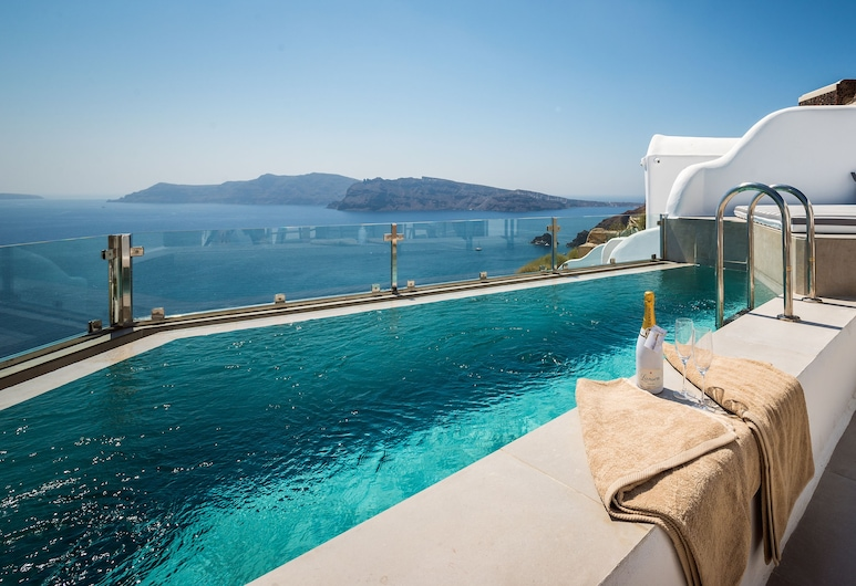 Elite Luxury Suites, Santorini, Premier Suite, 2 Bedrooms, Private Pool, Sea View (Caldera View), View from room