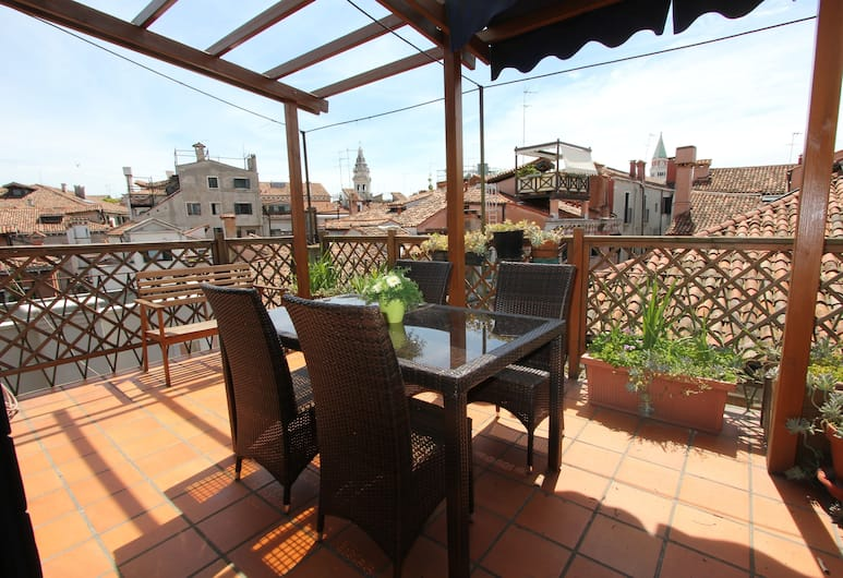 City Apartments - Residence San Marco, Venetsia, Huoneisto, 2 makuuhuonetta, Terassi (Apt. Paganini - castello 6107), Terassi/patio